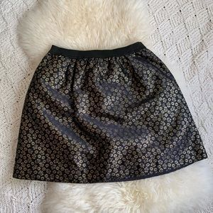 Crewcuts pull-on style skirt navy gold metallic 14